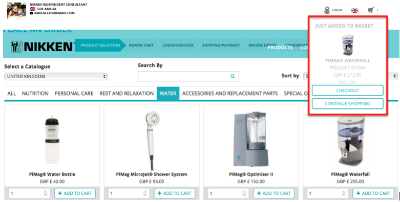 Order PiMag Waterfall Filter checkout